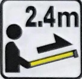 Горизонтальная стабильность - измерительная лента может иметь длину до 2,4 м