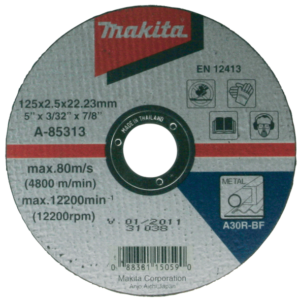 Отрезной диск по металлу Makita 115 мм (A-85307)