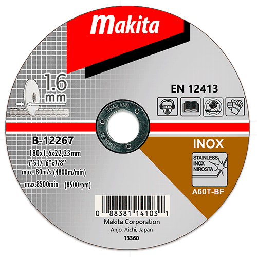 Отрезной диск по нержавейке Makita 180 мм (B-12267)