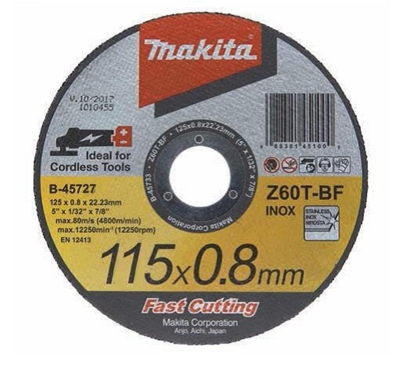 Отрезной диск по нержавейке Makita 115 мм (B-45727)