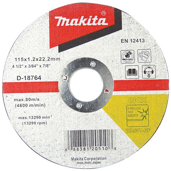 Отрезной диск по нержавейке Makita 230 мм (D-18792)