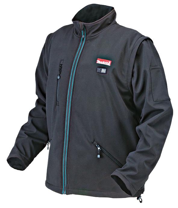 Аккумуляторная куртка с подогревом Makita DCJ 200 ZXL