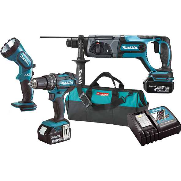 Набор инструментов Makita DLX3043 (DHP482,DHR241,ML185)