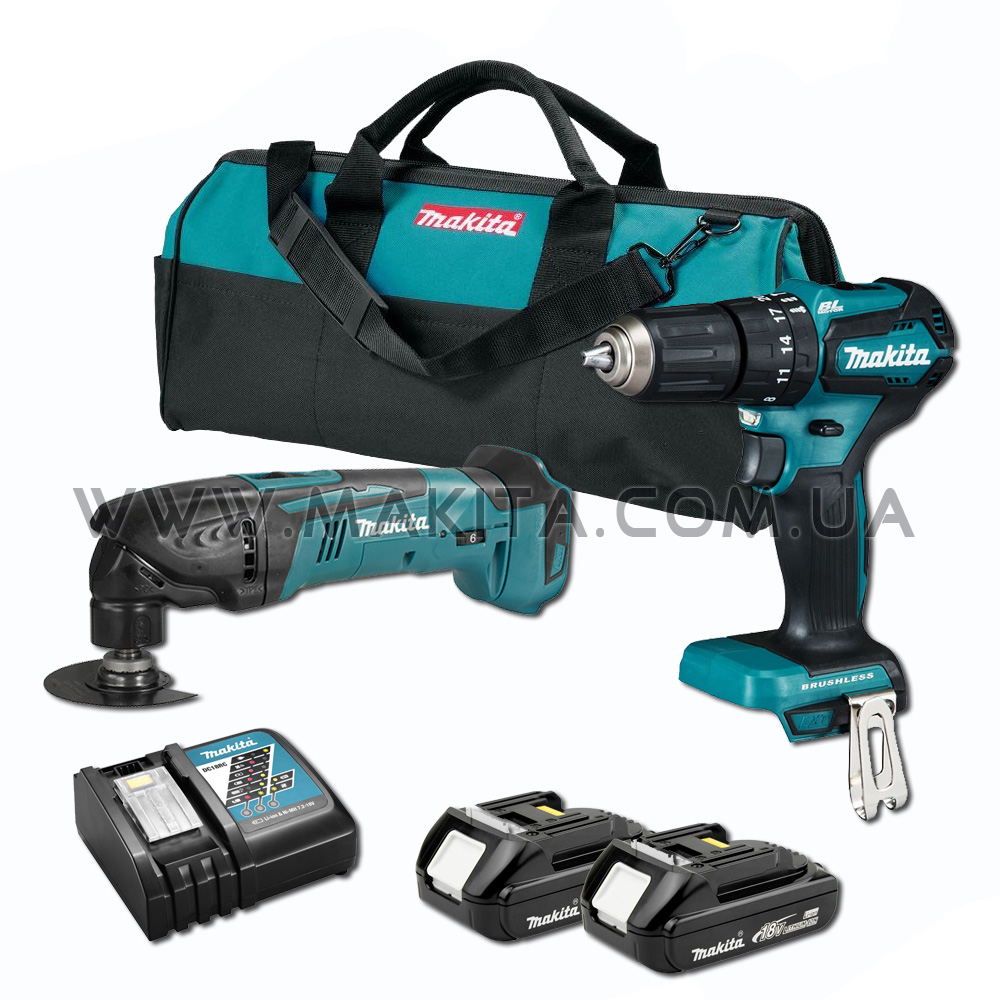 Набор инструментов Makita (DTM50Z, DHP483) LXT set 4