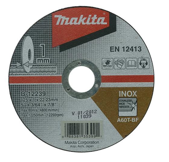 Отрезной диск по нержавейке Makita 125 мм (B-12239)